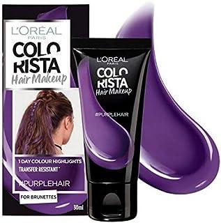 [Colorista] Coloristaヘアメイク紫色の一時的なブルネットの髪の色 - Colorista Hair Makeup Purple Temporary Brunette Hair Colour [並行輸入品]