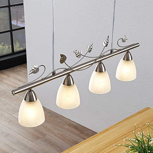 Lindby LED Pendelleuchte 'Yannie' in Alu aus Metall u.a. für Wohnzimmer & Esszimmer (4 flammig, E14, A++, inkl. Leuchtmittel) - Hängeleuchte, Esstischlampe, Hängelampe, Hängeleuchte, Wohnzimmerlampe