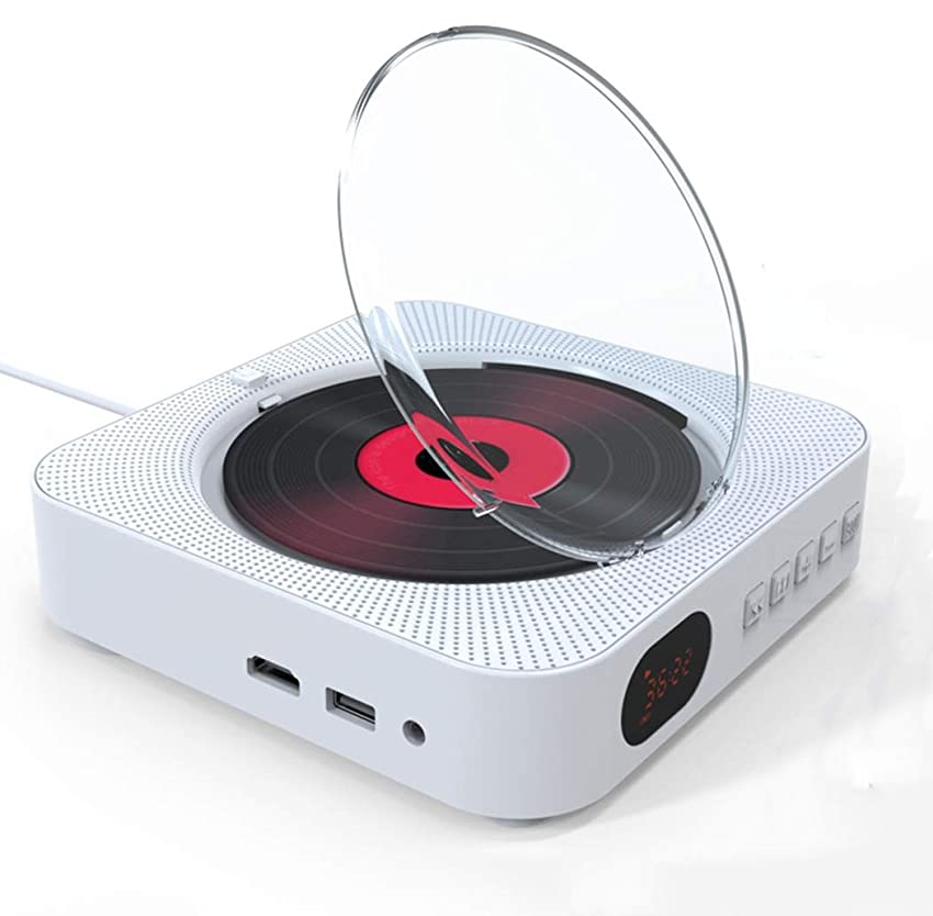 キロメートル衰える言語学FUNXS テレビ用HDMI 1080 P出力付きCDプレーヤー、CDおよびDVDプレーヤー、リモコン付きプルスイッチ、Bluetooth、FMラジオ