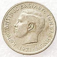 ギリシャ197150レプタフィギュアコイン、イーグルの男。 18mm