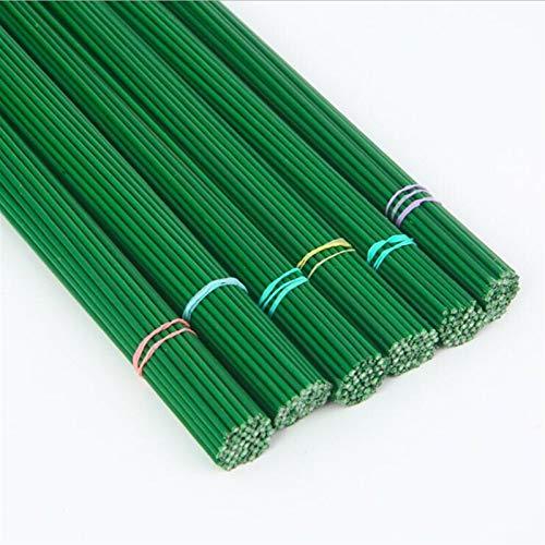 HGDD Künstliche Blumen 2mm 40 cm Papier bedeckte künstliche Zweige Zweige Eisendraht für Nylon Blume Zubehör Seide Blume Material Strauß Handwerk Dekor (Size : 30cm 2mm)