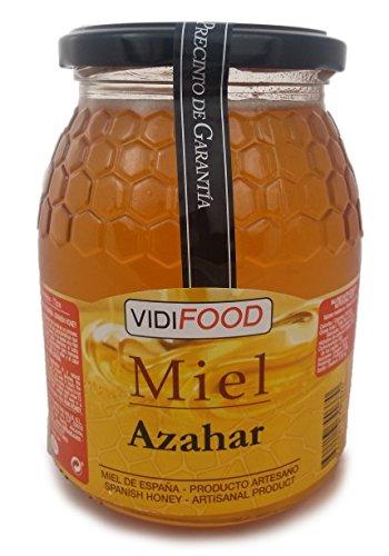 Miel de Azahar - 1kg - Producida en España - Alta Calidad, tradicional & 100{4c38f7144657578c7de91e432da057bcfcd07e2d70585cb6314a3e3cd6e1898a} pura - Aroma Floral Intenso y Sabor Fuerte y Dulce - Amplia variedad de Deliciosos Sabores