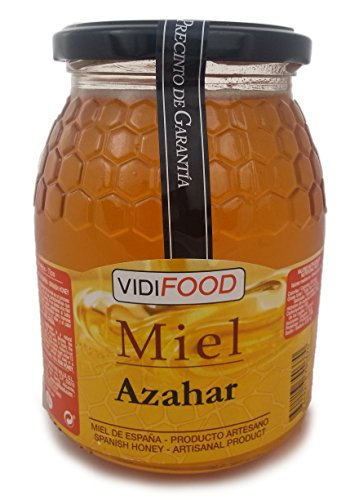 Orangenblüte Roher Honig - 1kg - In Spanien gesammelt - Feinste Qualität, Hausgemacht & 100% rein - Intensives Blumenaroma und starker, süßer Geschmack - Große Vielfalt an leckeren Geschmäckern