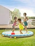 Sable Wasserspielzeug Garten Wasserspielmatte 170cm Splash Pad Sprinkler Kinder Play Matte...