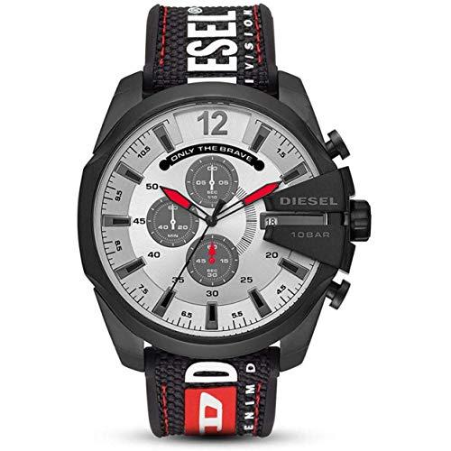 Diesel Herren Chronograph Quarz Uhr mit Nylon Armband DZ4512