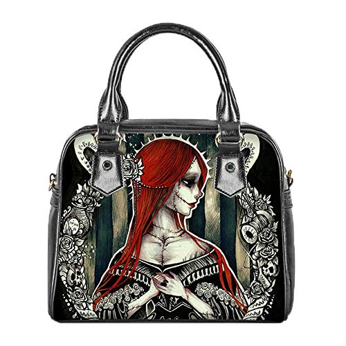Women Tote Bag Cool Nightmare Before Christmas Design Top-Handle Bag Daily Shopping Hand Storage Bag