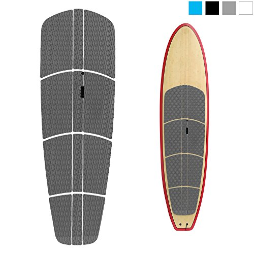 Abahub 12 Piece Surf SUP Deck Traction Pad Premium EVA with Tail Kicker 3M Adhesive for Paddleboard Longboard Surfboard Gray
