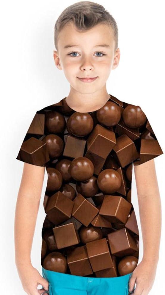 BZNOO Boys Girls T-Shirt 3D Realistic Graphic Crewneck Short Sleeve Printed Tee Shirt Tops for Kids Teens 4-14 Years