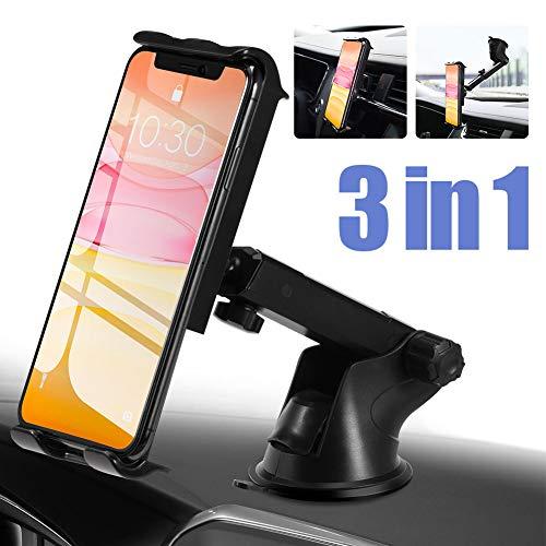 PaiTree Handyhalter fürs Auto Handyhalterung/Windschutzscheibe/Universal Kfz Handy Halterung für iPhone 11 Pro XS Max XR X 8 7 Plus, Samsung S10 S9 S8, Huawei Mate30 P30 Pro