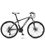<span class='highlight'><span class='highlight'>JHKGY</span></span> 27 Speed Mountain Bike for Adult And Youth,Outdoor Bikes,Lightweight Mountain Bikes Dual Disc Brakes Suspension Fork,High Carbon Steel,black,24 inch