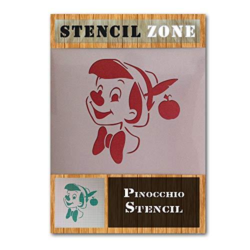 Pinocho Nariz personajes de Disney Mylar aerógrafo Pintura Crafts arte de la pared de la plantilla-S