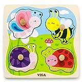 Eitech GmbH-50131 Viga Toys–Puzzle–Insectos, Multicolor 50131