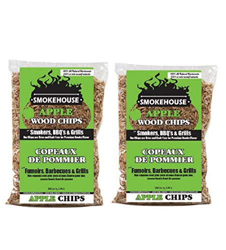 Smokehouse Products All Natural Flavored Wood Smoking Chips 2 Pack Apple