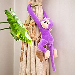 zyfun Plush Toy Plush Pillow Cute Baby Kids Toddler Soft Long Arm Monkey Stuffed Animal Doll Children's Gift Purple