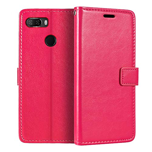 Lenovo K5 Play Wallet Case, Premium PU Leather Magnetic Flip Case Cover with Card Holder and Kickstand for Lenovo K5 Play