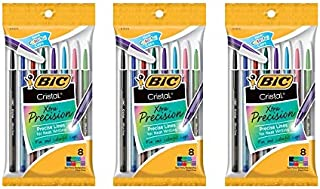 Bic Corporation 0.7 mm. Cristal Xtra Precision Fine Stic Ballpoint Pen, Assorted, 24 Count