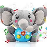 STEAM Life Plush Elephant Baby Toys - Newborn Baby Musical Toys for Baby 0 to 36 Months - Light Up Baby Toys for Infants Babies Boys Girls Toddlers Baby Gifts 0 3 6 9 12 Month