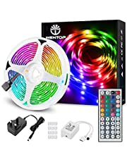WenTop LED Strip Lights with Remote, 10m Ultra-Long RGB Light Strip, SMD 5050 Multi-Color Strip Light, LED Lights for Bedroom, Ceiling, Wall, Festival, Party