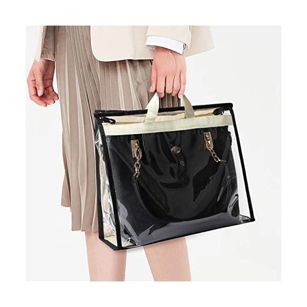 COOFIT Handbag Storage,3PCS Handbag Organizer Handbag Dust Cover Bags Dustproof Bags Handbag Purse Storage Bag for Handbag