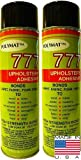Polymat 2 20oz (12oz NET) CANS 777 Glue Spray Adhesive Marine...