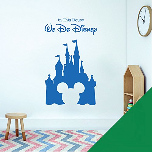 Sticker mural pour chambre d'enfant Motif château, Mickey Mouse