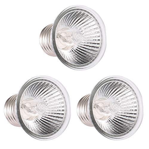 Decdeal - Lámpara de calentamiento de 25 W, UVA UVB, lámpara de calentamiento, bombilla de calefacción, para reptiles lagarto, tortuga acuario (bombilla, 3 unidades)