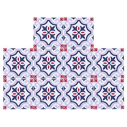 Zwindy Adhesivo para azulejos de PVC, impermeable, para decoración de pared, azulejos de cerámica, sala de estar, suelo