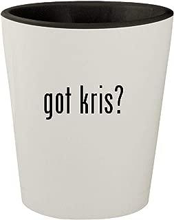 got kris? - White Outer & Black Inner Ceramic 1.5oz Shot Glass