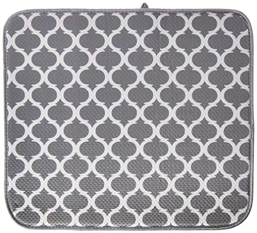 Norpro Microfiber Dish Drying Mat, 18 by 16-Inch, Trellis