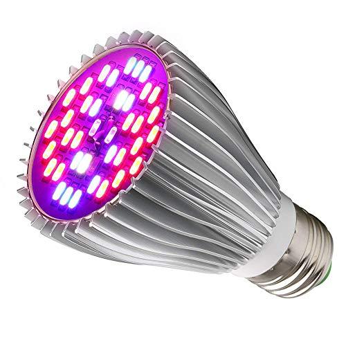 Wachstumslampe, 30W LED Pflanzenlampe E27/E26 Grow Light, 40 LEDs Vollspektrum Pflanzenlicht, Sonnenähnlich Pflanzenlampen Wachstumslampe für Pflanzen Garten Gewächshaus Zimmerpflanzen