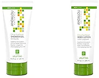 Andalou Naturals Citrus Sunflower Uplifting Shower Gel + Body Lotion