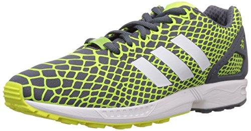 adidas ZX Flux Techfit Herren Sneakers, gelb / weiß / grau, 44.5 EU