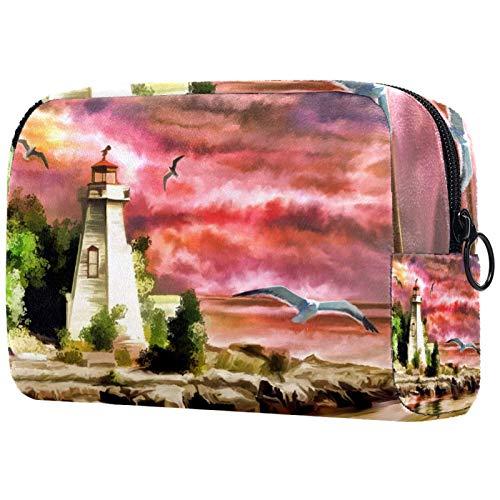 Neceser de viaje, bolsa de viaje impermeable de alta calidad con cremallera mejorada, peces que comen más pequeños