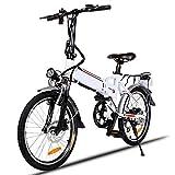 Speedrid Bicicleta eléctrica Plegable Adultos, Bicicleta eléctrica de 20 '' con batería de Iones...