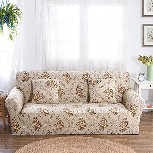 EMOHKCAB Elastische sofa hoes voor woonkamer sectionele bank kussenovertrekken meubelen beschermer sofa hoes stretch spandex, 4, kussensloop x 2