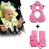 Inchant Accesorios para el bebé asiento infantil - suava apoyo para la cabeza y Funda de hombro del cinturón de seguridad por 1-4 años de edad los niños pequeños - Cómodo y reversible