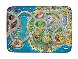 House of Kids (HOV0P) - Alfombra Ultra Suave «Carretera en la Costa», Multicolor, 130x180x0,76cm