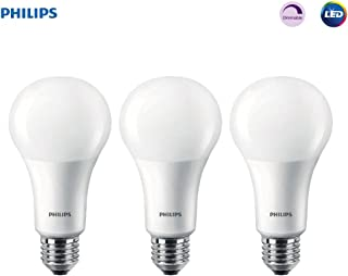 Philips LED Dimmable A21 Soft White Light Bulb with Warm Glow Effect: 1600-Lumen, 2700-2200-Kelvin, 16-Watt (100-Watt Equivalent), E26 Base, Frosted, 3-Pack (Old Generation)