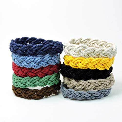 Narrow Sailor Knot Rope Bracelet Nautical Colors