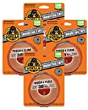 Gorilla XL Mounting Tape, 4-Pack, Clear, 4 Pack