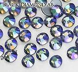 BrillaBenny 1400 cristales negros Diamond AB Boreal termoadhesivos Hotfix Crystal Strass vestido patinaje (SS16/4 mm)