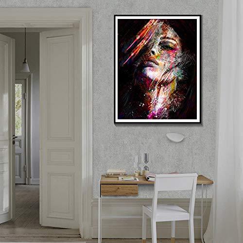 KWzEQ Rahmenlose Malerei Abstrakte Wandplakate und Drucke Hauptdekoration Aquarellmalerei Moderne Ölgemäldekunst LeinwandAY7099 40X50cm