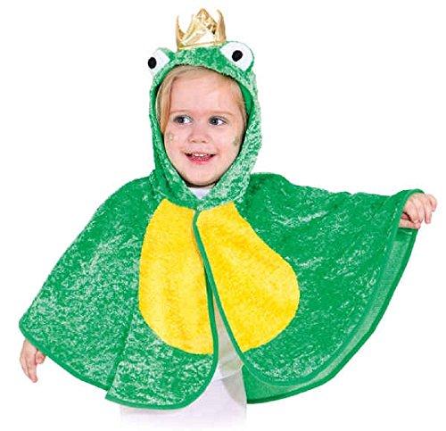 Fancy Me Kleinkinder Jungen Mädchen Mini Biest Biene Frosch Marienkäfer Welttag des buches-Tage-Woche Kindergarten Kostüm Kleid Outfit Umhang - Froschkönig, 3-4 Years (104cm)