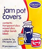 County Stationery Jam Pot Covers - 1 Kg (2lb) Jars - 20 Covers and Labels From