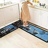 ACAMPTAR Fußmatten für den Haushalt, Küche, Wasser- und Öl-Absorption, rutschfest, schmutzabweisend, Küchenleiste, Türvorleger A7_50 x 180 cm