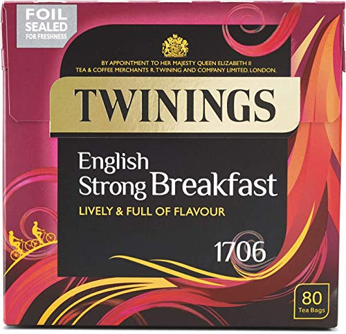 Twinings 1706 English Strong Breakfast Lively & Full of Flavour 80 Btl. 250g
