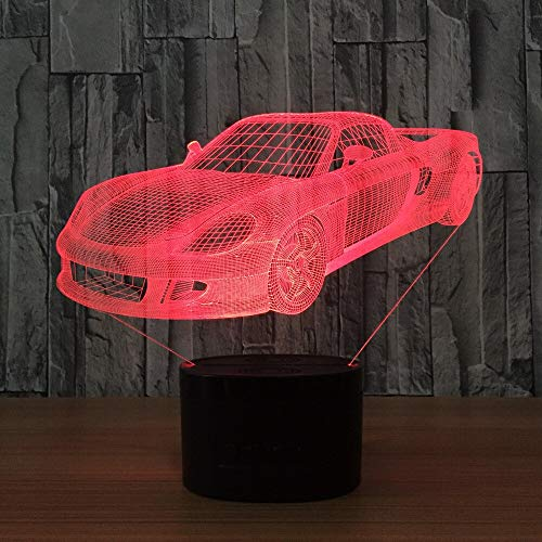 Car as a House Toy lamp Night Light 3D LED Small Table lamp USB Interface Touch Remote Control Light Colorful Night Light