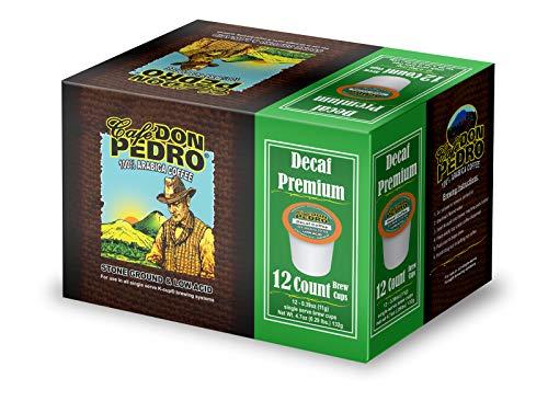 Cafe Don Pedro - 72 ct. Decaf Premium Low Acid Coffee 72 Ct. - Compatible with Keurig 2.0 K-cup Brewers , 100% Arabica , Single Serve , Battles Heartburn Acidic Reflux, Healthy Gourmet Capsule Pod