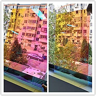 Decorative Films 1.37x30m 2mil Wholesale Roll Rainbow Effect Chamelon Window Film Decorative Window Tint 54''x100ft