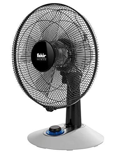 Fakir VC 25 SN Trend - Tischventilator mit 90 °-Oszillation, 4 Leistungsstufen & LED-Drehschalter I Leiser Ventilator mit 38 dB (A) für Gästezimmer, Wohnzimmer & Büro I 45 Watt